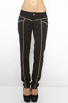 Picture of Black Gold detail glam pants