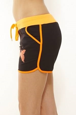 Picture of Butterfly Cotton blend sexy shorts - orange