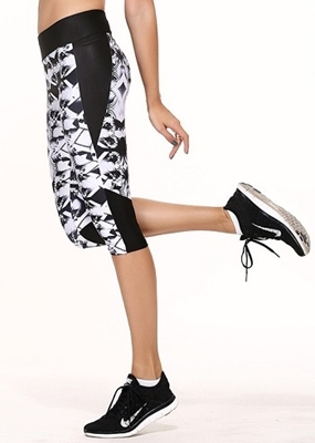 Picture of Cropped leggings - Black/White Jazz