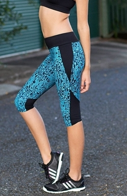 Picture of Cropped leggings - Techno Blue