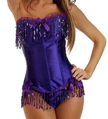 Picture of Dazzling Purple Corset