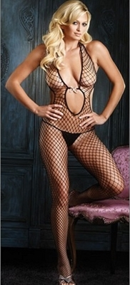 Picture of Diamante Keyhole front bodystocking