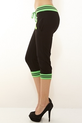 Picture of Drawstring Jogger three quarter - Green