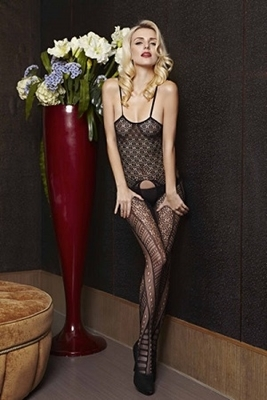 Picture of Floral Strap netlace bodystocking