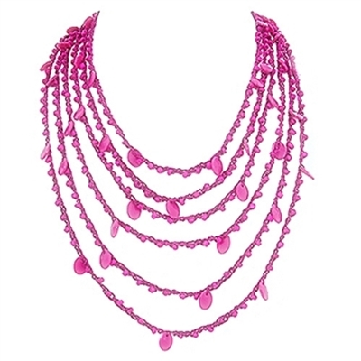 Picture of fuchsia color trend necklace