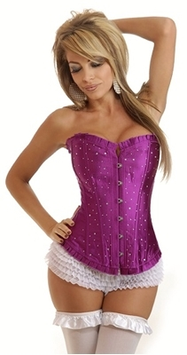 Picture of Glamour girl Purple Rhinestone corset