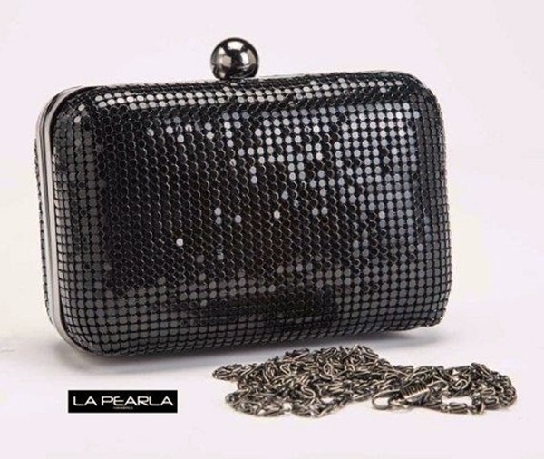 Picture Of Mesh Clutch Bag Black