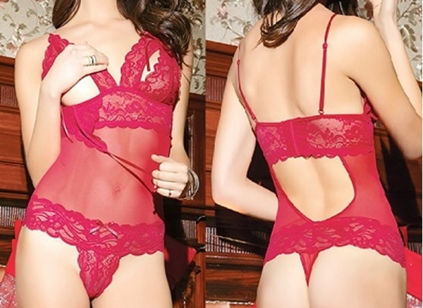 2e4685bc9b8 Picture of Red Lace Sexy Teddy Lingerie