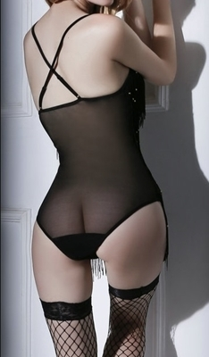 Picture of Flashy sparkle girl sexy lingerie set (incl stockings)
