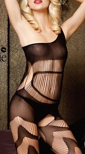 Picture of Burn out one shoulder bodystocking