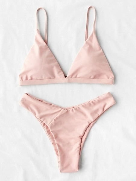 2d463a241d Picture of Nude Pink High Leg Triangle Cheeky Bikini Set