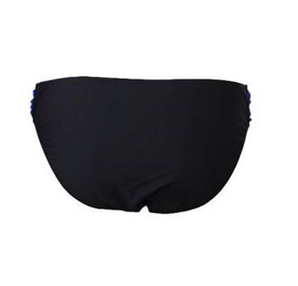 Picture of Wide Drape Colour Block Bikini BOTTOM- Black/Blue