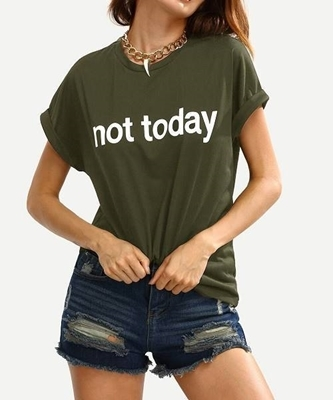 Picture of Graphic Print Cuffed Tee