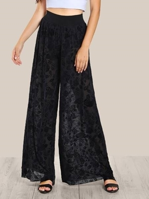 Picture of Floral Lace Palazzo Pants
