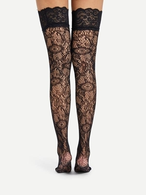 Picture of Over The Knee Lace Socks