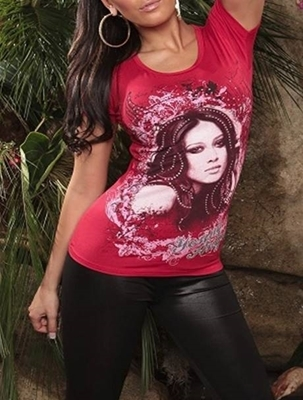 """Picture of Cooles T-Shirt """"Young Angels"""" - red"""