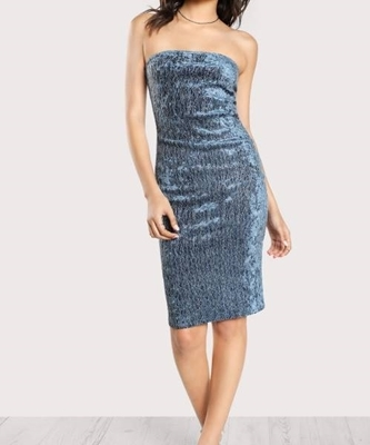 Picture of Glamour Shimmer Strapless Pencil Dress