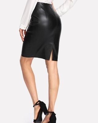Picture of Faux Leather Skinny Skirt