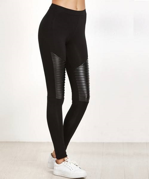 Picture of Mixed Media Textured Leggings