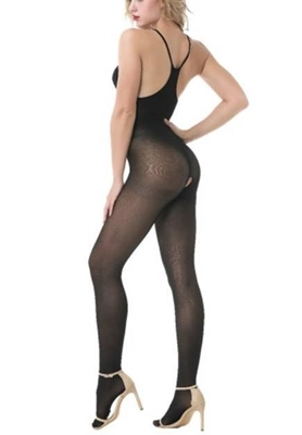 Picture of Lace Insert Keyhole Crotchless Bodystocking