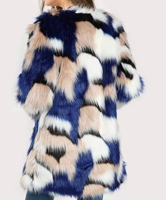 Picture of Colorful Faux Fur Open Front Coat