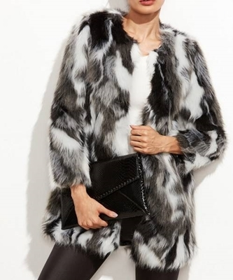 Picture of Faux Fur Open Front Fuzzy Coat