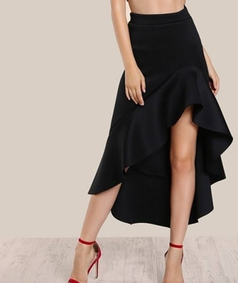 Picture of Ruffle Front Hi Lo Skirt