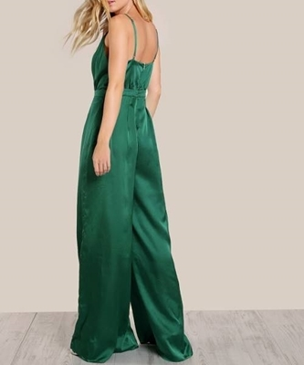 Picture of Culotte Surplice Front Box Pleated  Loose Cami Jumpsuit