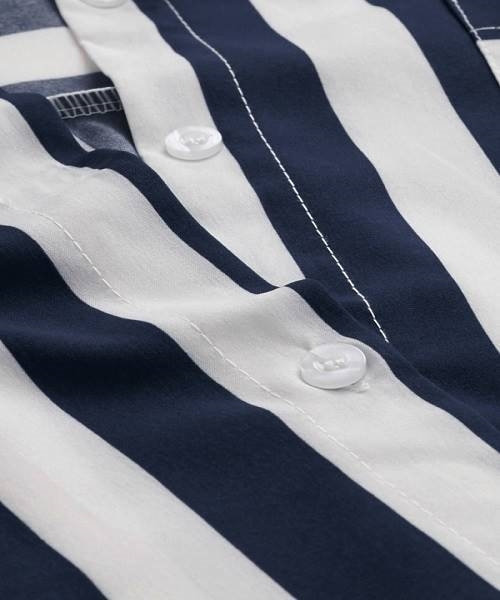 Picture of Striped O-Ring Belted  Shirt