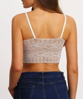 Picture of Lace Strap White Bralet Lingerie