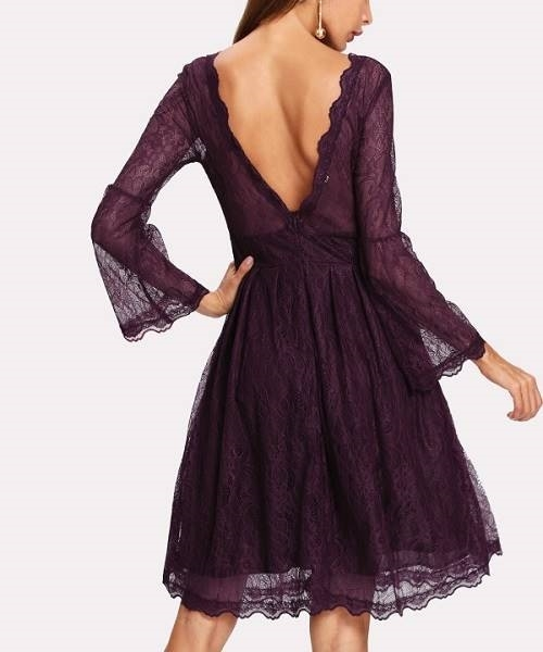 Picture of Open V Back Lace Dress