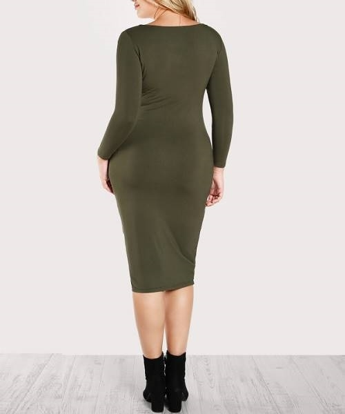 Picture of Solid Sheath Pencil Dress
