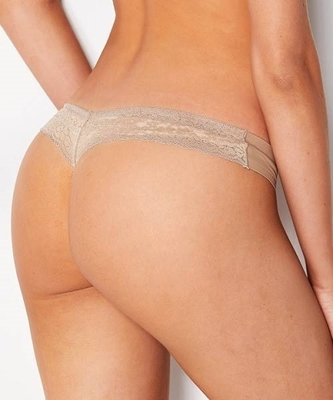 Picture of Lace Panel Seamless Thong