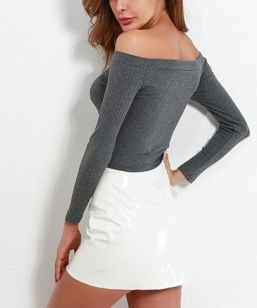 Picture of Bardot Ribbed Crop Tee
