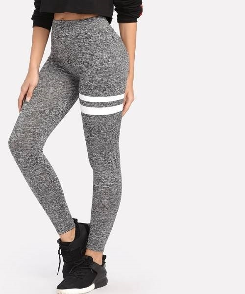 Picture of Striped Marled Knit Leggings