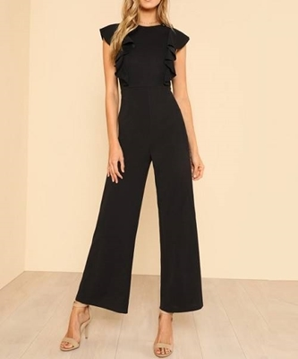 Picture of Ruffle Trim Wide Leg Jumpsuit