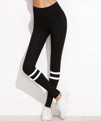 Picture of Striped High Waist Leggings