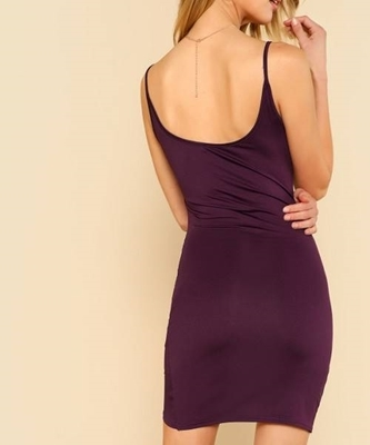 Picture of Ruched Overlap Hem Cami Dress