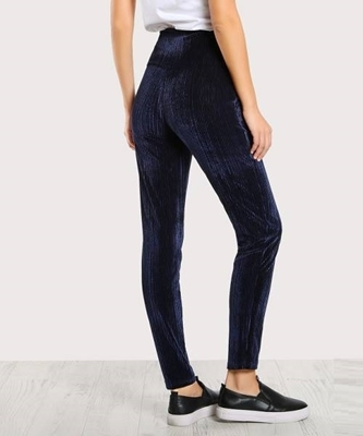 Picture of Wide Waistband Ribbed Velvet Leggings