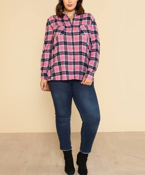 Picture of Pocket Patched Tartan Shirt