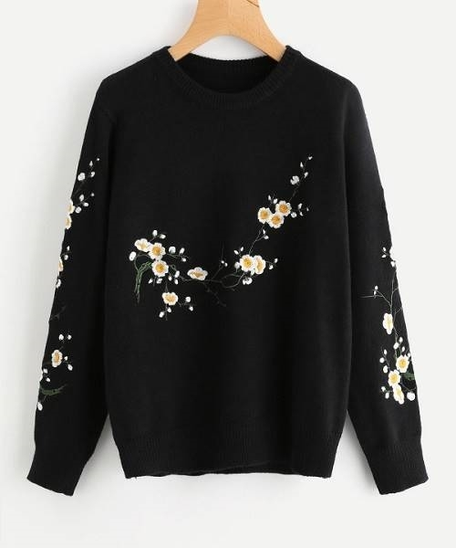 Picture of Flower Blossom Embroidered Sweater
