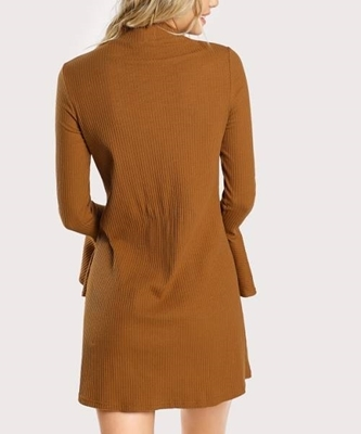Picture of Bell Sleeve Rib Knit Dress