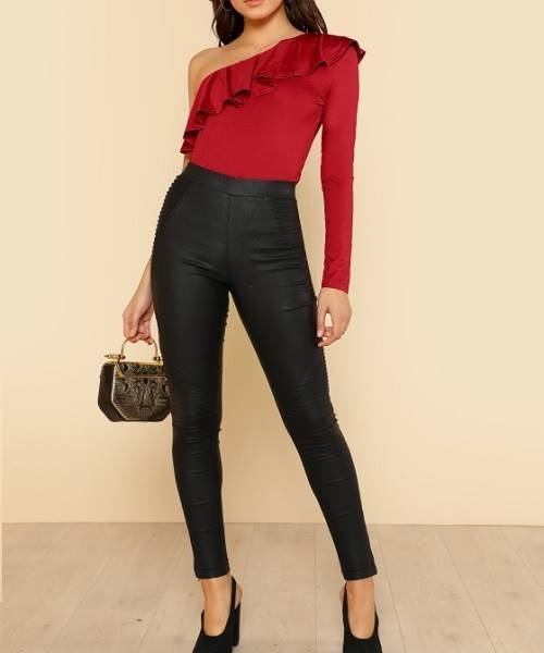 Picture of Flounce One Shoulder Fitted Tee