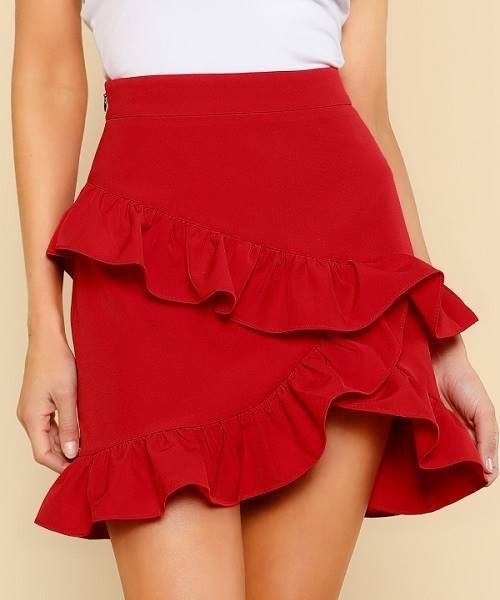 Picture of Asymmetric Layered Ruffle Skirt