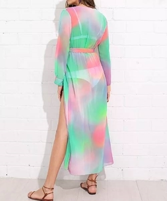 Picture of Self Tie Waist Water Color Dress