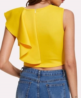 Picture of Ruffle detail crop top