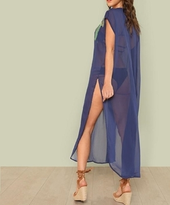 Picture of Embroidered Mesh Beach Cover Up