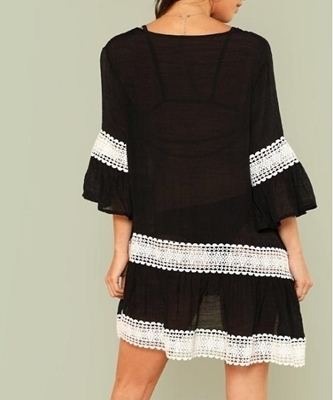 Picture of Crochet Lace Beach Oversized Cover Up