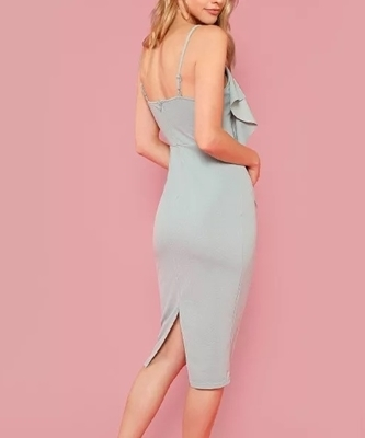 Picture of Flounce Embellished Fitted Cami Dress