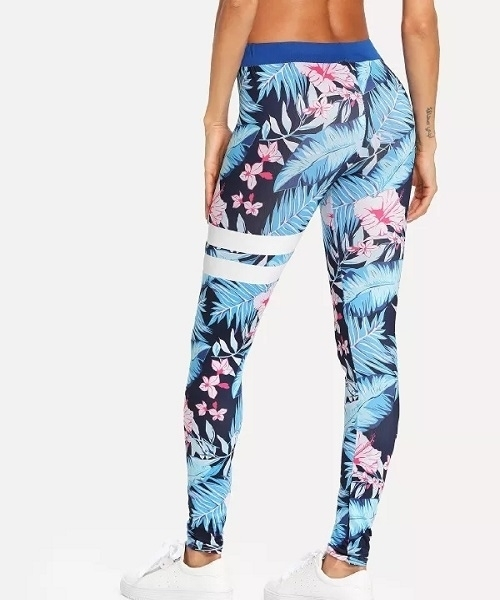 Picture of Thin Tropical Geo Print Sporty Legging
